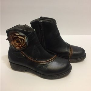 Socofy Genuine Leather Ankle Boots. Size. 37